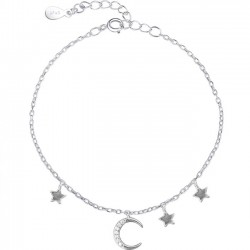 Cute Moon Star Silver Bracelet Friend Gift Accessories Women Bracelet