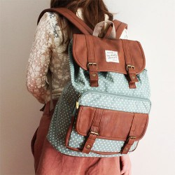 Cute Dot Print Cover Leisure Backpacks