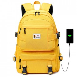 Casual Four Buckle Large Capacity Outdoor Middle School Student School Bag Waterproof Backpack
