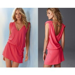 Sexy Beach Swimwear Bikini Cover Up Shirt Dress
