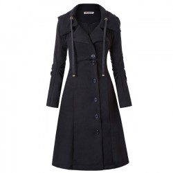 Leisure Unique Warm Irregular Long Sleeve irregular Hem Double Sided Woolen Women Coat