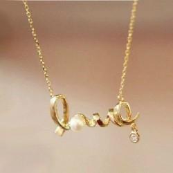 Unique Love Pearl Sweater Necklace