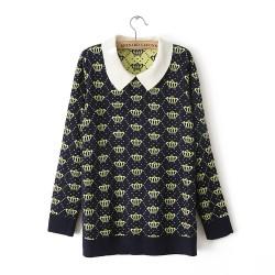 New Slim Crown Lapel Sweater & Cardigan