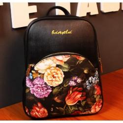 Summer Flower Printing Retro School Backpacks