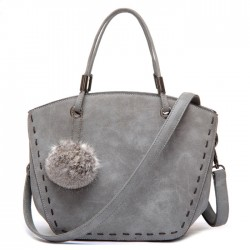 Matte Minimalist Casual Wool-Ball Retro Shoulder Bag Messenger Bag