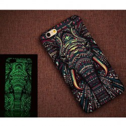 Creative Luminescent Matte Elephant Cat Lion Hard Back Case Cover For Iphone 6/6plus