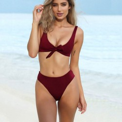 New Front Chest Bow Swimsuit Simple Sexy Women's Bikini