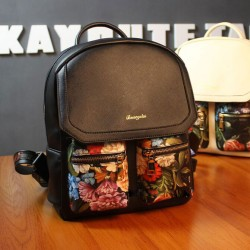 Fresh Flower Printing Double Pockets College Backpacks
