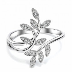 Cute Leaves Branch Personalized Willow Leaf Women Ring