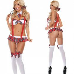 Sexy Temptation Cosplay Sling Tie Student Bow Uniform Women Intimate Lingerie