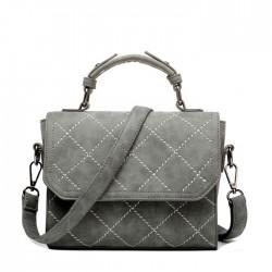 Fall Winter Frosted Spiraea Rhombus Messenger Bag Small Square Handbag Shoulder Bag