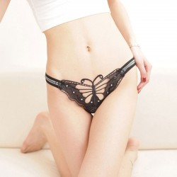 Sexy Lady Lace Butterfly Pants Hollow Underwear Women Intimate Lingerie