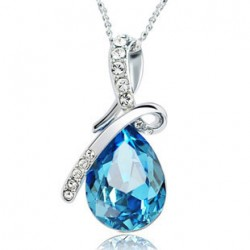Diamond Angel Tears Crystal Necklace