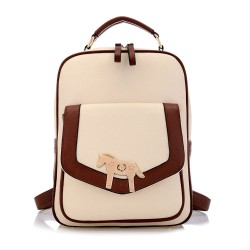 Golden Horse Simple School Backpack