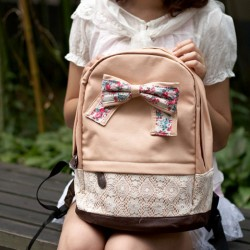 Cute Lace Floral Sweet Bow Backpacks