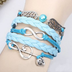 Sweet Music Note Angel Wing Infinity Bracelet