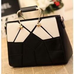 Unique Black White Joint Lattice Handbags