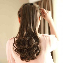Long Lasting Pear Wavy Ponytail Hair