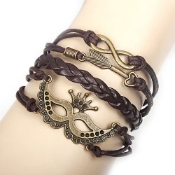 Retro Crown Arrow Infinity Bracelet