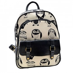 Mini Leisure Cartoon Owl College Backpack