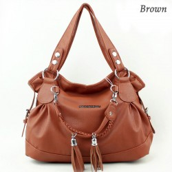 Fashion Elegant Weave Tassel Shoulder Bag
