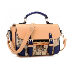 Elegant Contrast Color Graffiti Shoulder Bag & Handbags