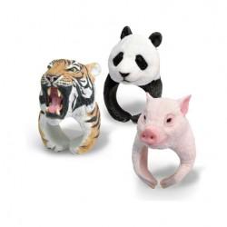 Super Cute PVC 3D Animal shaped Tiger Panda Polar Bear Hedgehog Ring