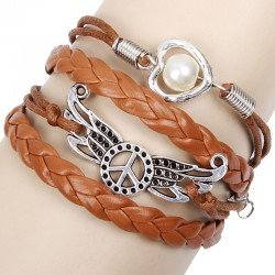 Peace Wings Love Pearl Bracelets