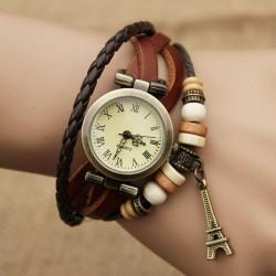 Retro Eiffel Tower Twist Bracelet Watch