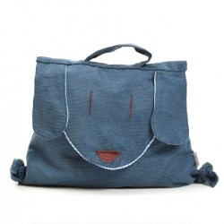 Personality Handmade Child Canvas HandBag& Backpack