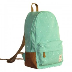 Fresh Cute Dot Print Canvas Backpacks