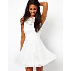 New Fashion Lace Embroidered Halter Slim Dress &Party Dress