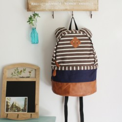 Cute Bear Ear Strip Leisure Backpack