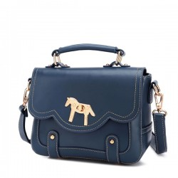 Retro Buckle Horse Shoulder Bag Messager Bag