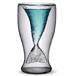Personality Gift Transparent Mermaid Glass Cup