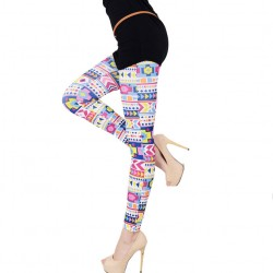 Geometric Colorful Print Leggings