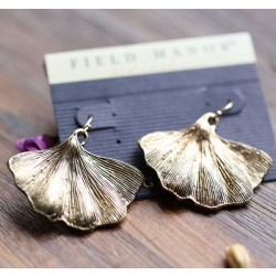 Retro Ginkgo Leaf Art Ear Drops