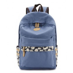 Fresh Floral Print Canvas Flower Lady School Backpacks