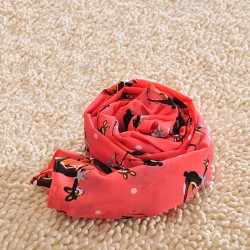 Lovely Elk Red Animal Voile Infinity Scarf