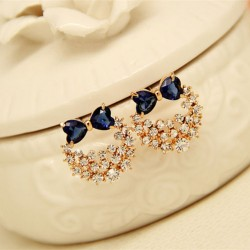 Anti Allergy Silver Needle Bowknot Crystal Zircon Ear Studs