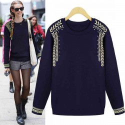 Thick College Jacquard Knit Sweater