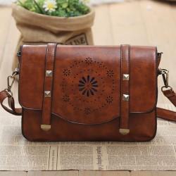 Geometry Hollow Retro Rivet Summer Shoulder Bag