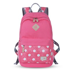 Sweet Solid Polka Dot Pattern Trunk Computer Travel School Backpack Rucksack