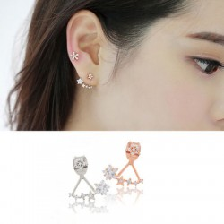 Nice Jewelry Twinkle Star Diamond Silver Needle Lady Earrings