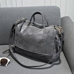Fashion Punk Nubuck Leather Shoulder Bag