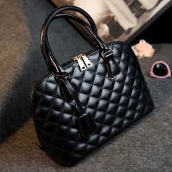Rhombus Pattern Handbag Portable Bag Shoulder Bag