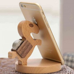 Practical Gift Cute Wood Horse Mobile Phone Holder