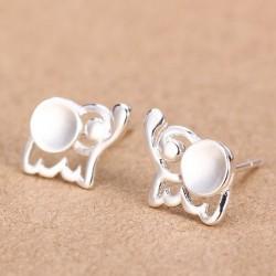 Fresh Baby Elephant 925 Silver Stud Earrings/Ear Studs