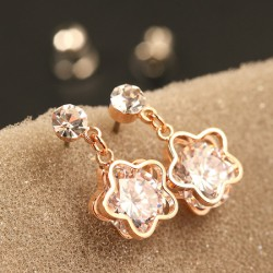 Shining Original Plum Flower Diamond Pendant Earrings