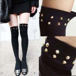 Girls Step Foot Rivet Tights Highs/Stockings